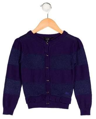 Little Marc Jacobs Girls' Striped Knit Cardigan