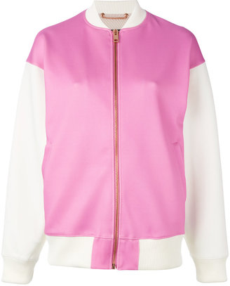 Diesel contrasted bomber jacket $242.63 thestylecure.com
