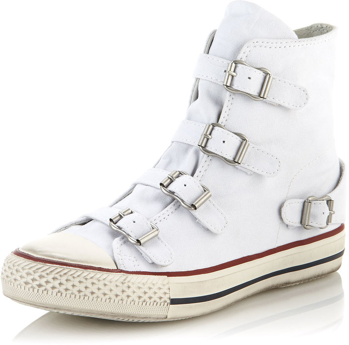 Ash Virgin Buckled Sneaker, White