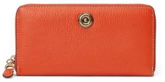 Ralph Lauren Leather Medium Zip Wallet