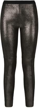 SET Metallic Leather Leggings