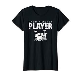 Womens Marching Band Girlfriend Boyfriend Funny Drummer T-Shirt