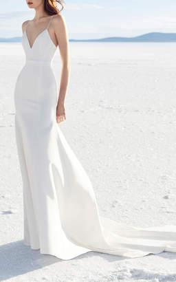 Alex Perry Bride Cameron Satin Trumpet Gown