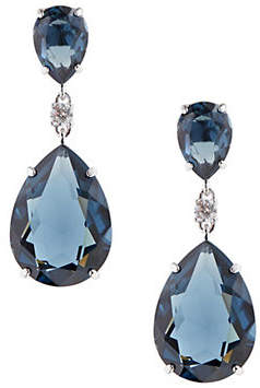 Swarovski Teal Crystal Drop Earrings