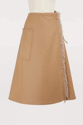 Sofie D'hoore Wool wrap skirt