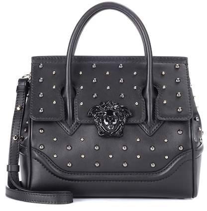 Versace City Stud Palazzo Empire leather tote