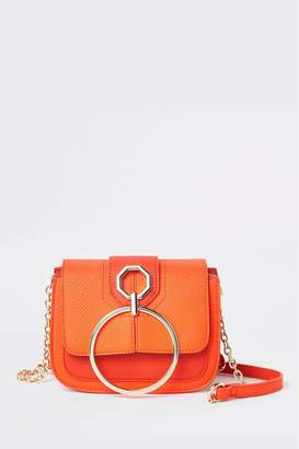 River Island Womens Red Metal Detail Across Body Bag - Orange