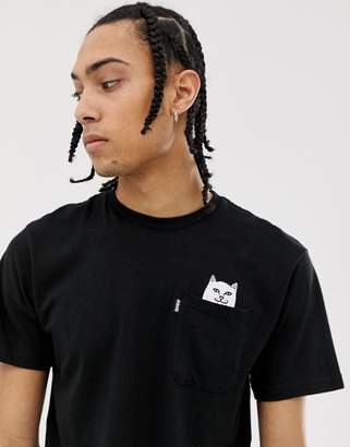 N. Rip Dip RIPNDIP Lord Nermal Pocket t-shirt in black