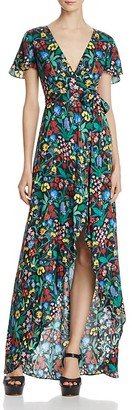 Alice + Olivia Adrianna Faux-Wrap Maxi Dress $375 thestylecure.com