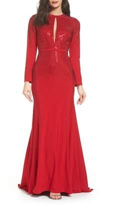 Mac Duggal Keyhole Mermaid Gown