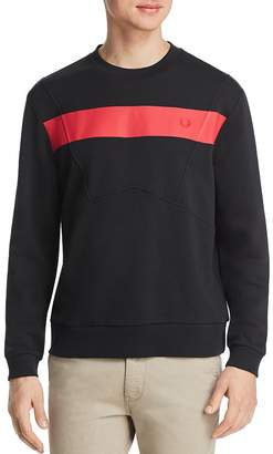Fred Perry Stripe-Front Paneled Sweatshirt