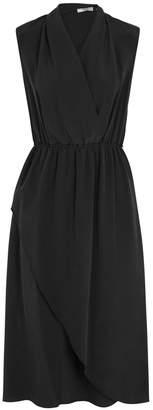 Vince Black Washed Silk Dress