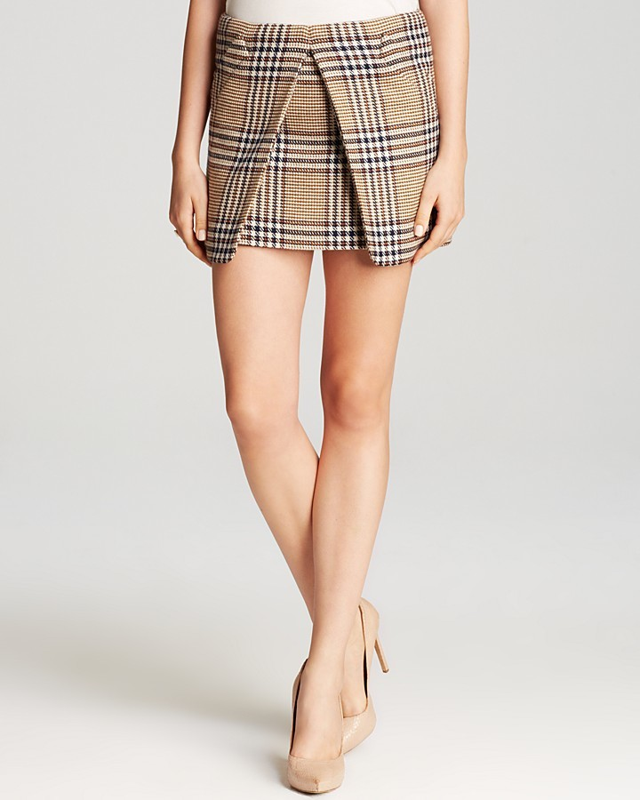 Rachel Zoe Mini Skirt - Augusta Pleated