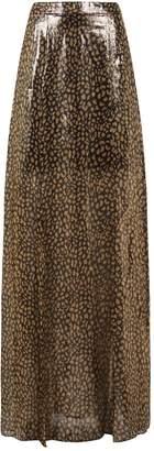 Alice + Olivia Athena Leopard Print Maxi Skirt