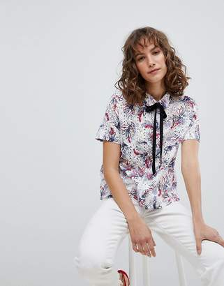 Suncoo Shirt in Printed Broderie