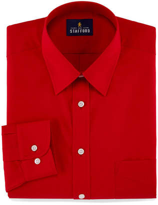 STAFFORD Stafford Travel Stretch Performance Super Shirt Long Sleeve Broadcloth Dress Shirt