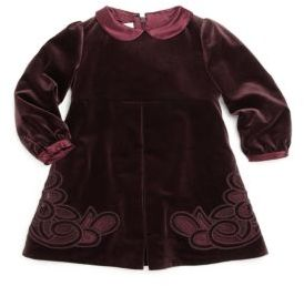 Baby's Embroidered Velvet Dress $860 thestylecure.com