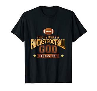 Funny Sport T-shirt Fantasy Football God Looks Like Gift