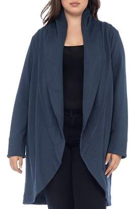 Bobeau B Collection by Curvy Peri Quilted Shawl Collar Knit Jacket
