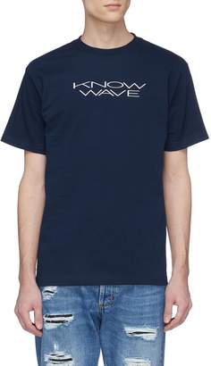 Know Wave Logo print T-shirt