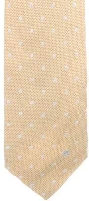 Versace Polka Dot Jacquard Silk Tie