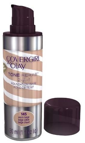 Cover Girl & Olay Tone Rehab 2-In-1 Foundation - Warm Beige 145