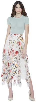Alice + Olivia Ciara Textured Crop Pullover