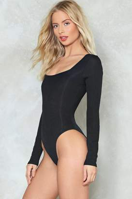 Nasty Gal What's Your Angle Ribbed Bodysuit