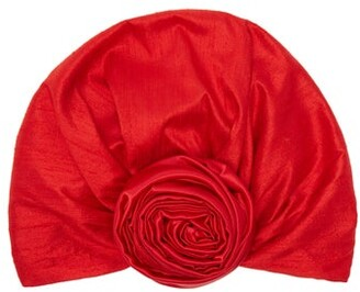 Julia Clancey - Edith Reversible Silk Turban Hat - Womens - Red