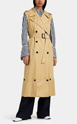 J.W.Anderson Women's Cotton Sleeveless Trench Coat - Beige, Khaki