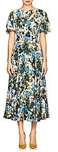 Erdem Women's Kathryn Floral Crepe Cocktail Dress - White, Blue