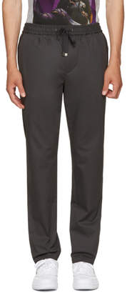 Dolce & Gabbana Grey Tapered Drawstring Trousers
