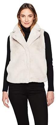 Ellen Tracy Women's High Collar Faux Fur Vest