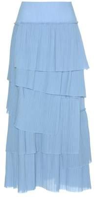 Sonia Rykiel Ruffled cotton skirt