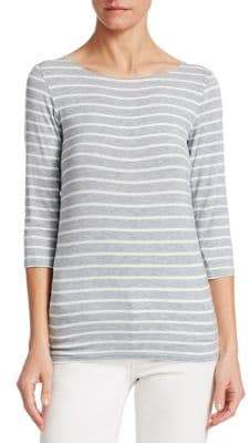 Majestic Filatures Striped Pullover