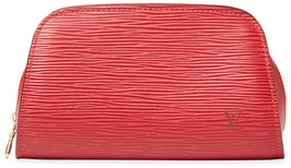 Louis VuittonVintage Red Epi Cosmetic Pouch