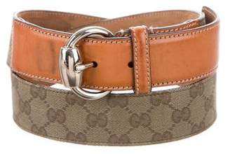 Gucci Canvas Monogram Belt