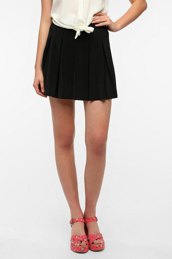 Urban Outfitters Pins and Needles Box Pleat Mini Skirt