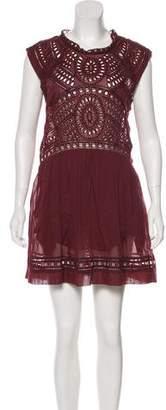 Etoile Isabel Marant Short Sleeve Eyelet Dress