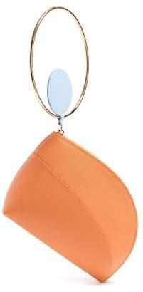 Roksanda Eartha Dot Bi Colour Leather Clutch - Womens - Brown Multi