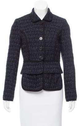 ADAM by Adam Lippes Tweed High-Low Jacket