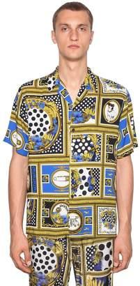 Versace Bowling Heritage Printed Viscose Shirt