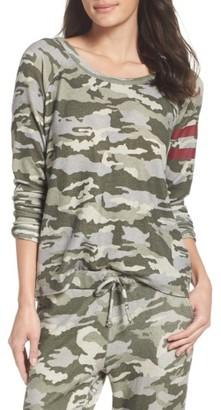 Women's Chaser Camo Lounge Sweatshirt $79 thestylecure.com