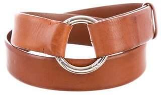Loro Piana Leather D-Ring Belt