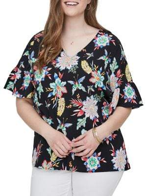 Junarose Plus Nazaria Short-Sleeve Blouse