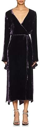 Juan Carlos Obando Women's Velvet Wrap Dress