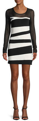INC International Concepts Petite Colourblocked Mesh Dress