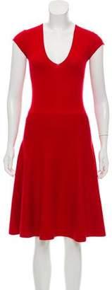 Donna Karan Wool Cap Sleeve Dress