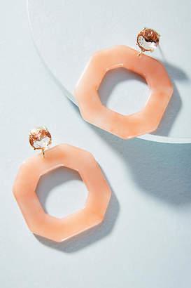 Anthropologie Amelie Octagon Hoop Earrings