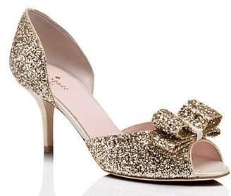 5c83e9ff39 Kate Spade Sela Heels, Gold Glitter - Size 5